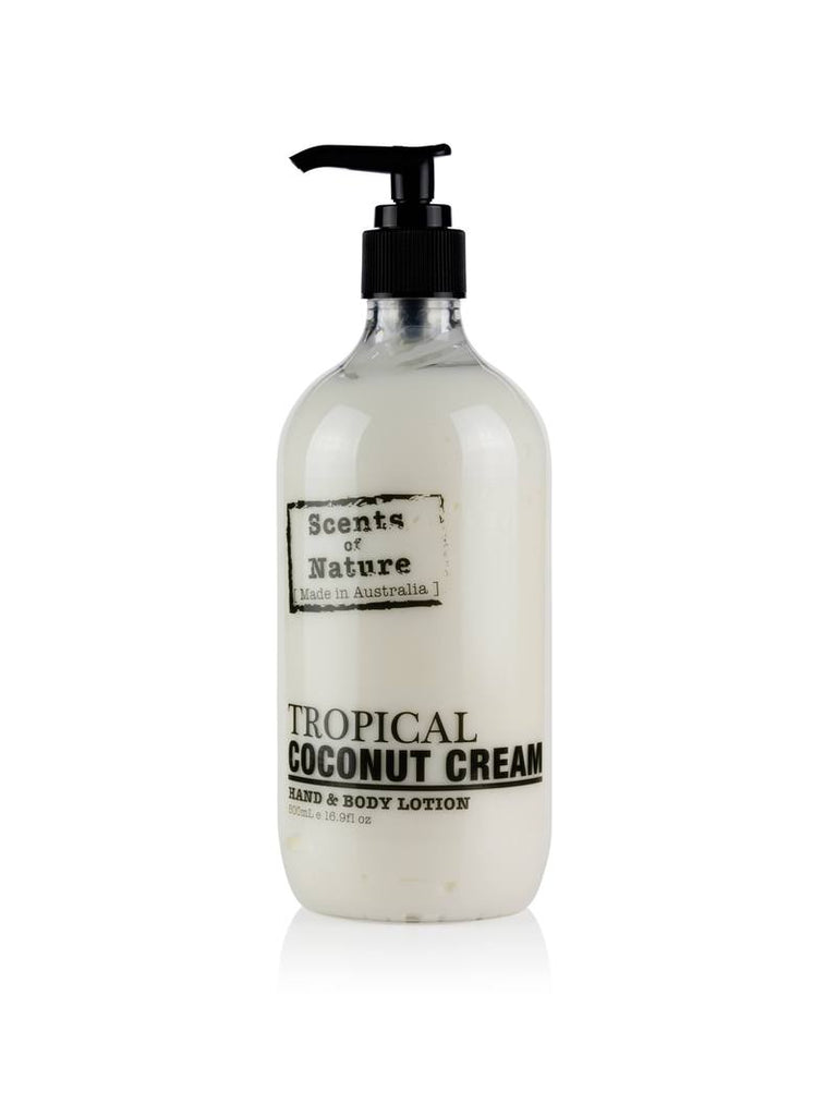 TROPICAL COCONUT CREAM HAND & BODY LOTION 500ML
