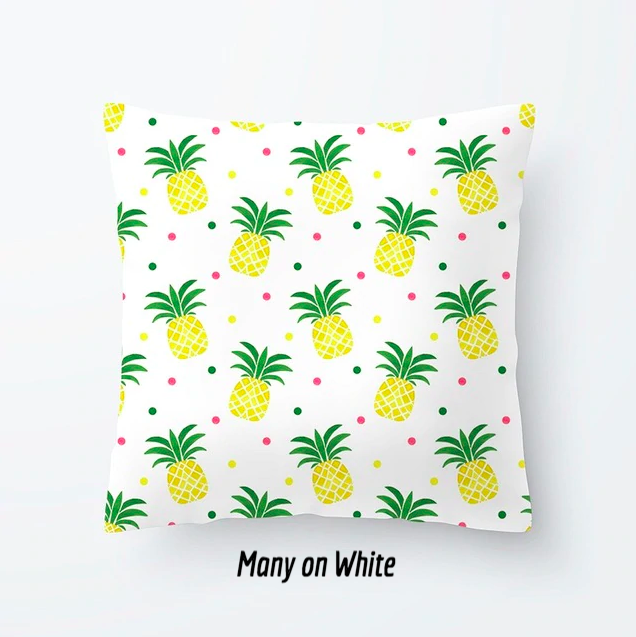 Pineapple Throw Pillow Case - Cartoon Design