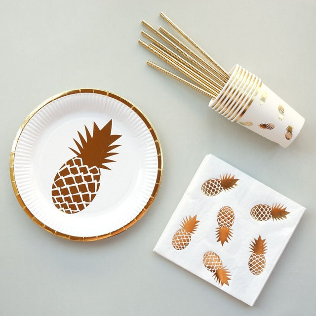 Pineapple Party Plates