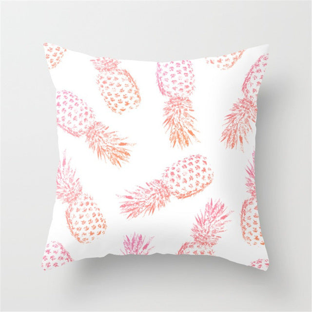 Pineapple Throw Pillow Case - Stamped Design