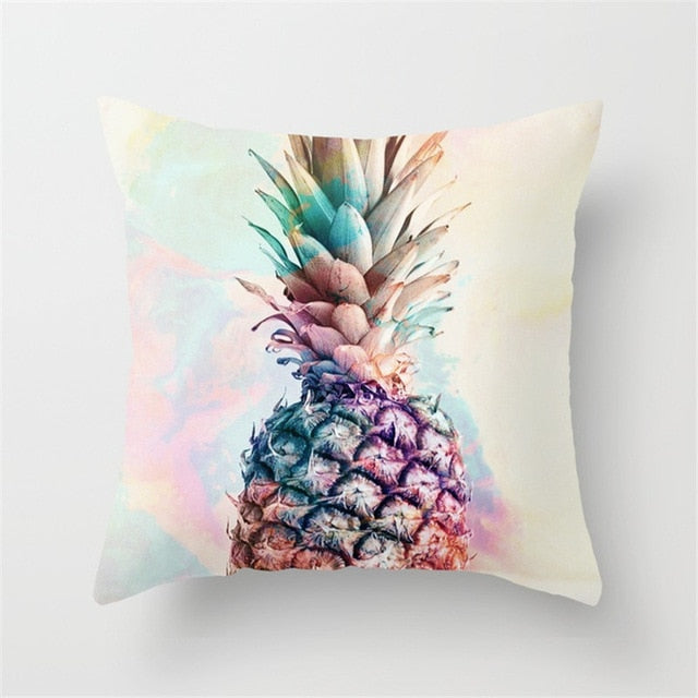 Pineapple Throw Pillow Case - Realistic Design