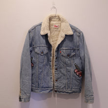 Levis Custom 'Snake' Shearling Denim Jacket