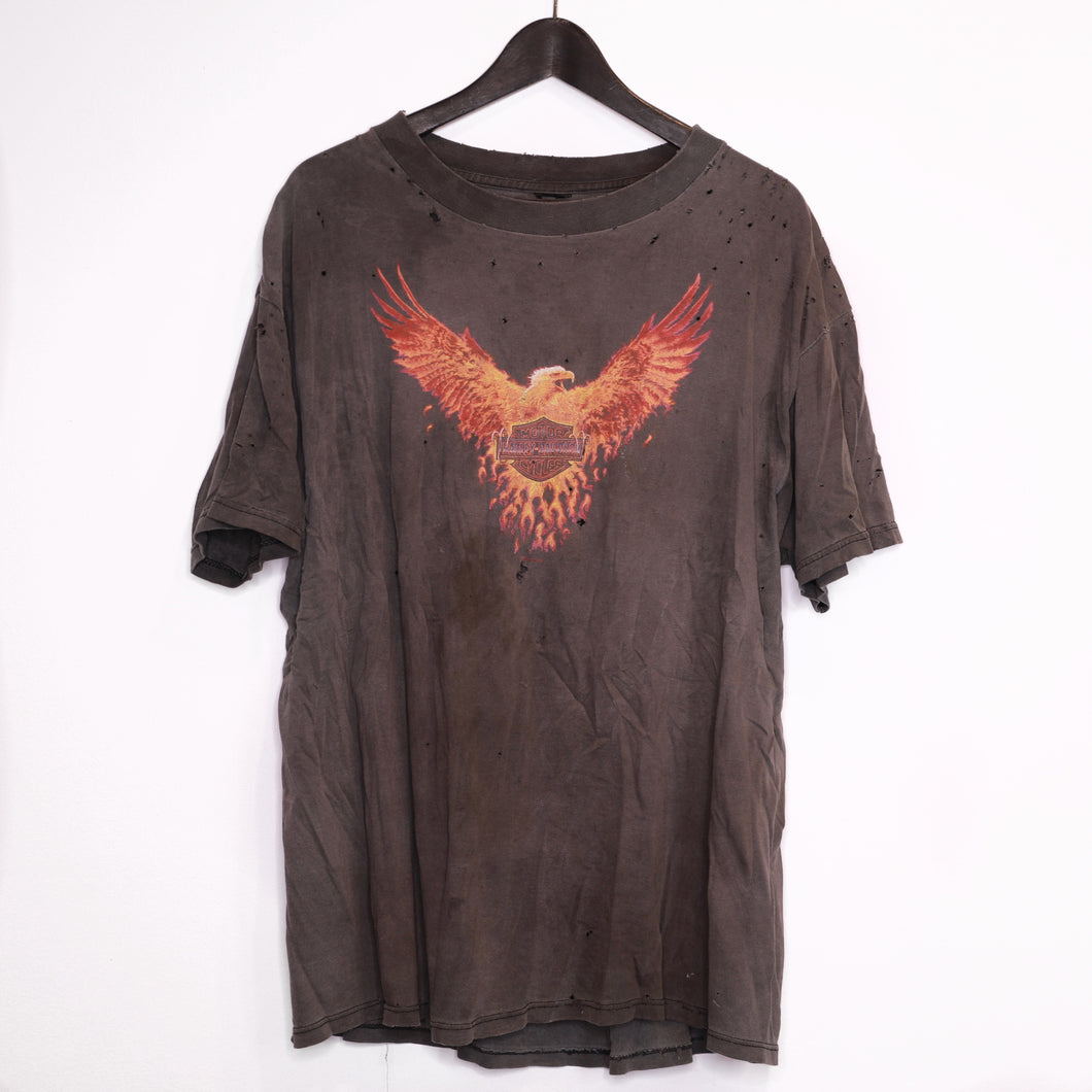 1998 Harley 'Flaming eagle' tee
