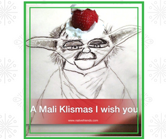 A Mali Klismas I wish you. Yoda speaks Ichiskiin, a Native American language used in the Pacific Northwest, by Native Friends.