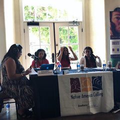 Powerful Panel of Native Women speaking on Native American Calling Hosted by Tara Gatewood