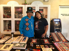 Artist Waya'aisiwa and Emily Washines