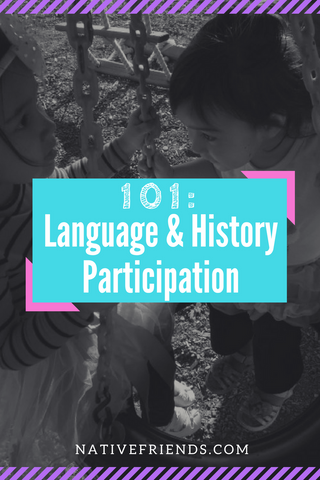 Language and history participation is discussed