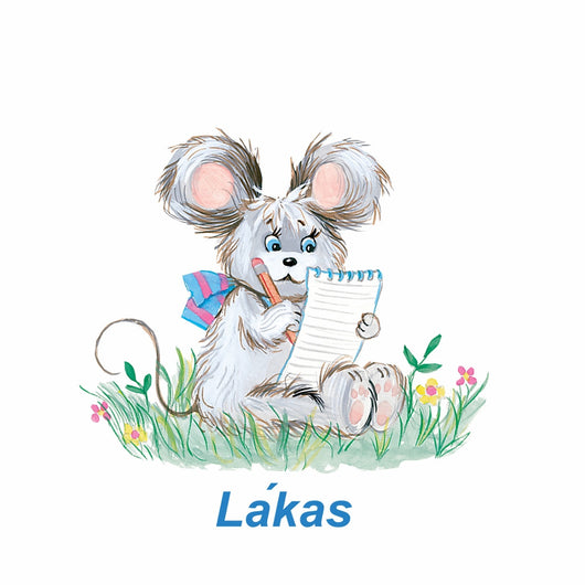 Lakas means mouse in the Yakama Language. This is from a collection on Native Friends.