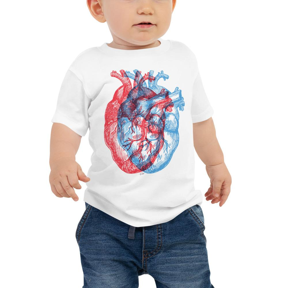 3-Dimensional Heart Baby Short Sleeve Tee