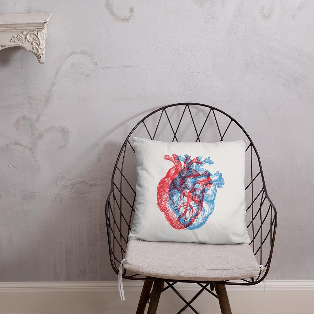 3-Dimensional Heart Basic Pillow