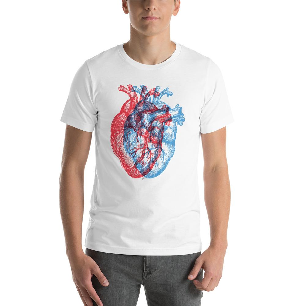 3-Dimensional Heart Unisex Short Sleeve T-Shirt