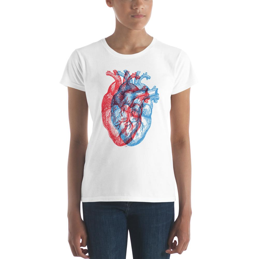 3-Dimensional Heart Women's Short Sleeve T-Shirt