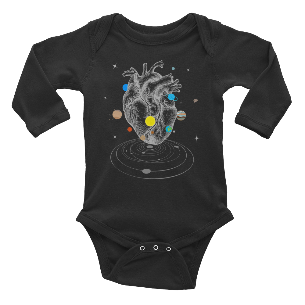 A Universe Within Long Sleeve Baby Onesie