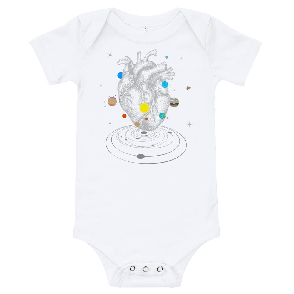 A Universe Within Short Sleeve Baby Onesie