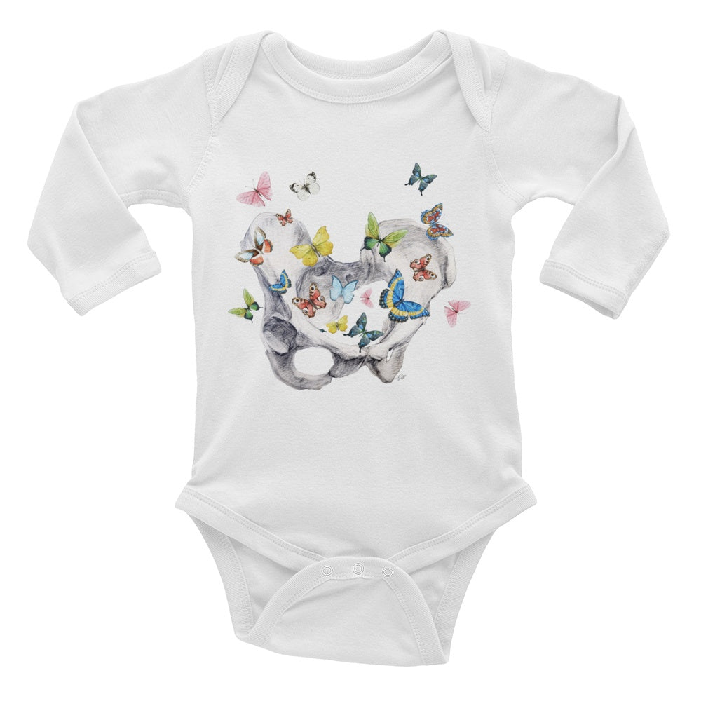 Give Me Butterflies Long Sleeve Baby Onesie