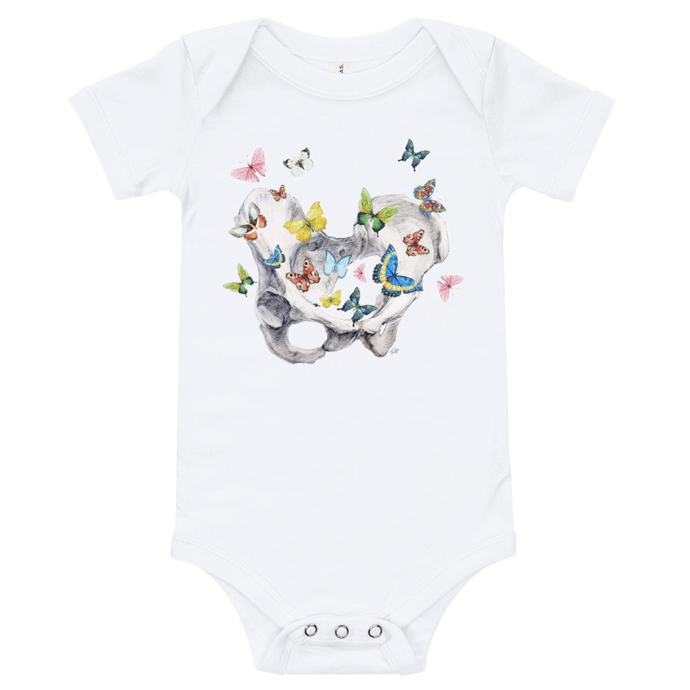 Give Me Butterflies Short Sleeve Baby Onesie