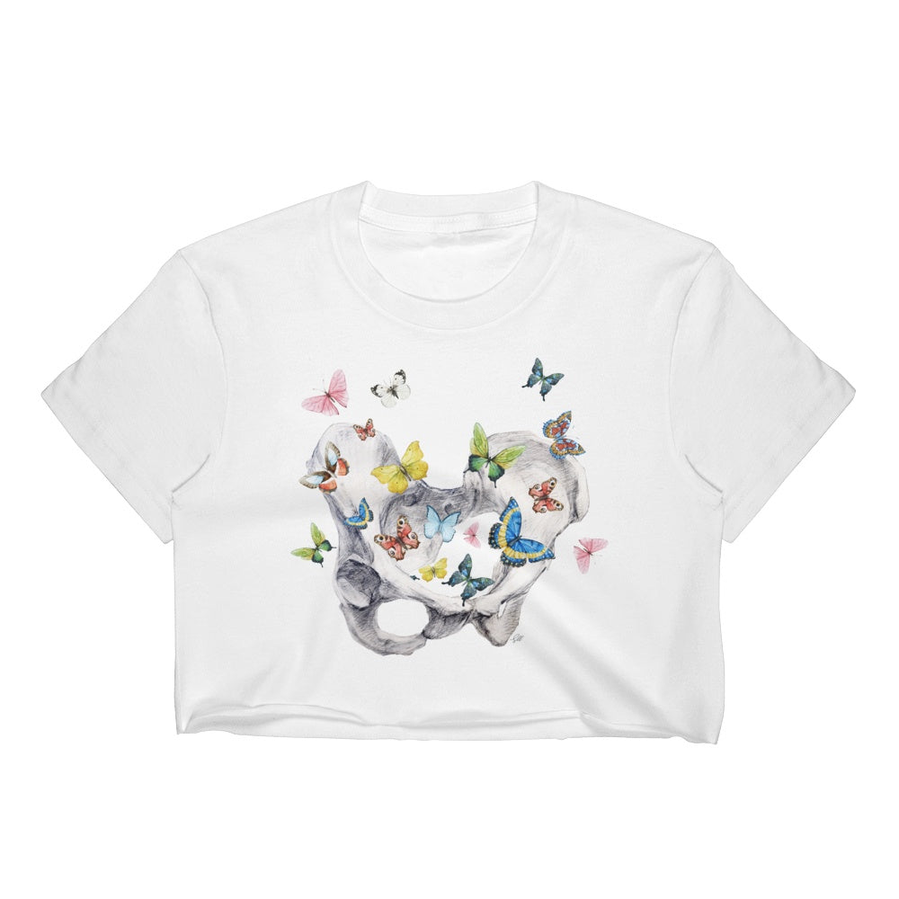 Give Me Butterflies Women's Crop Top