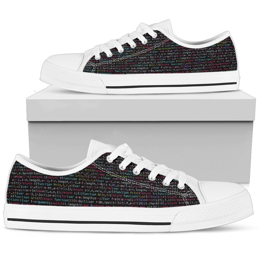 JavaScript Men's Low Top Canvas Shoes