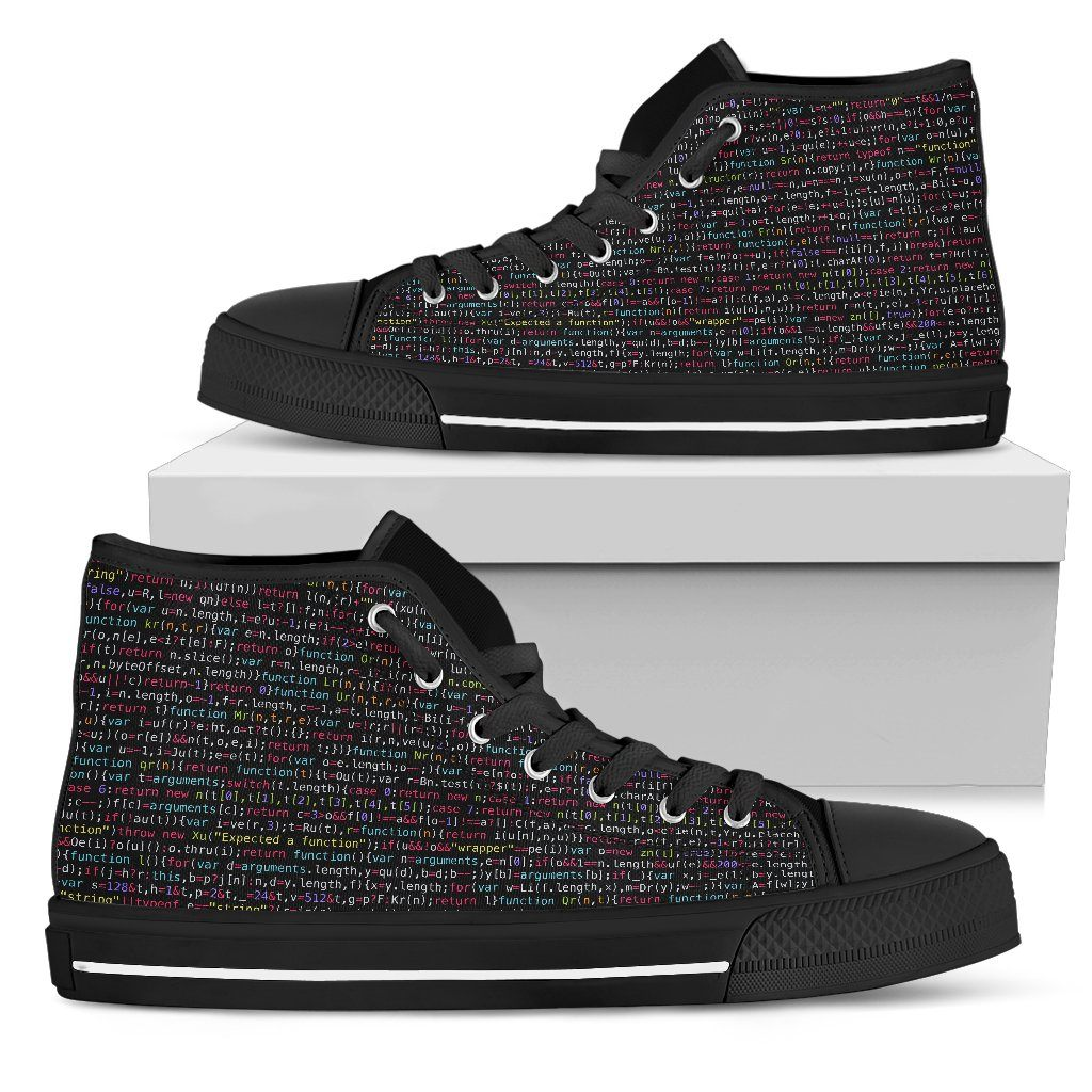 JavaScript Women's High Top Canvas Shoes