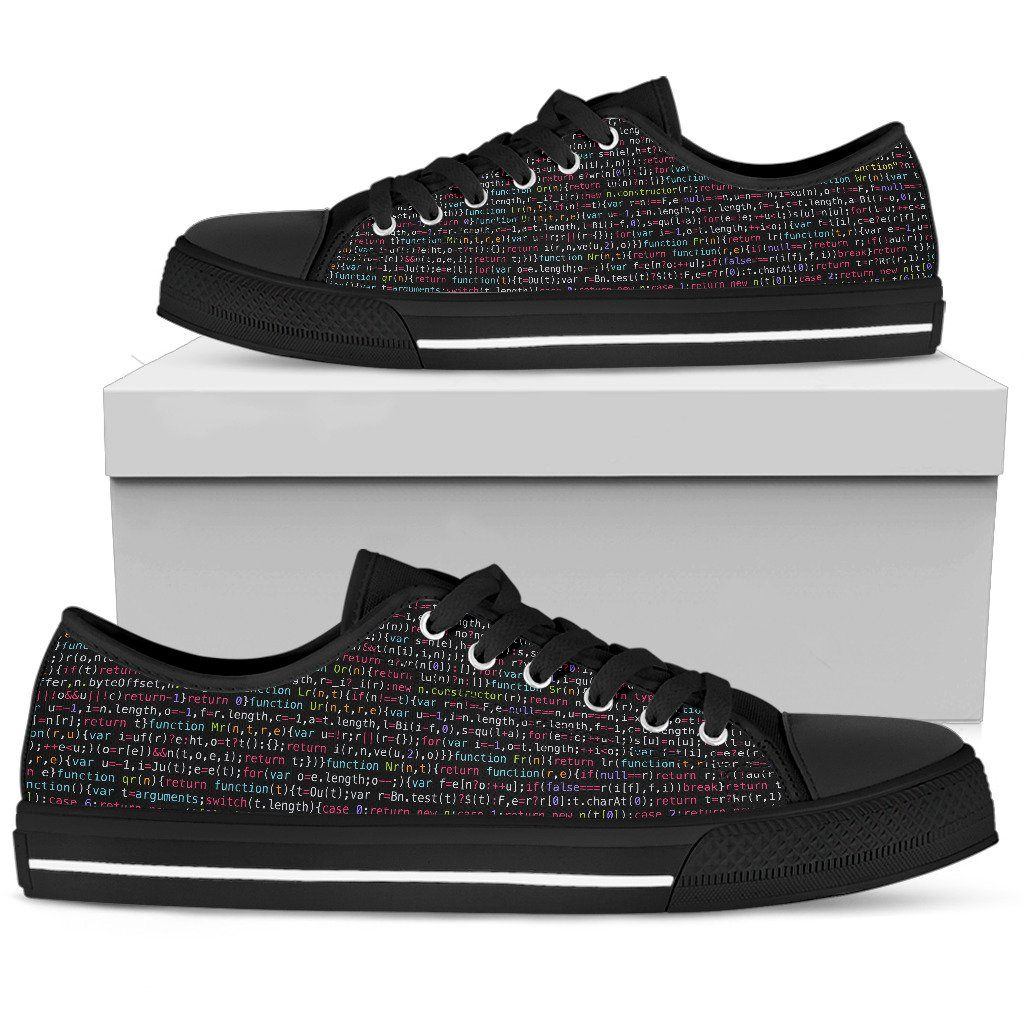 JavaScript Women's Low Top Canvas Shoes