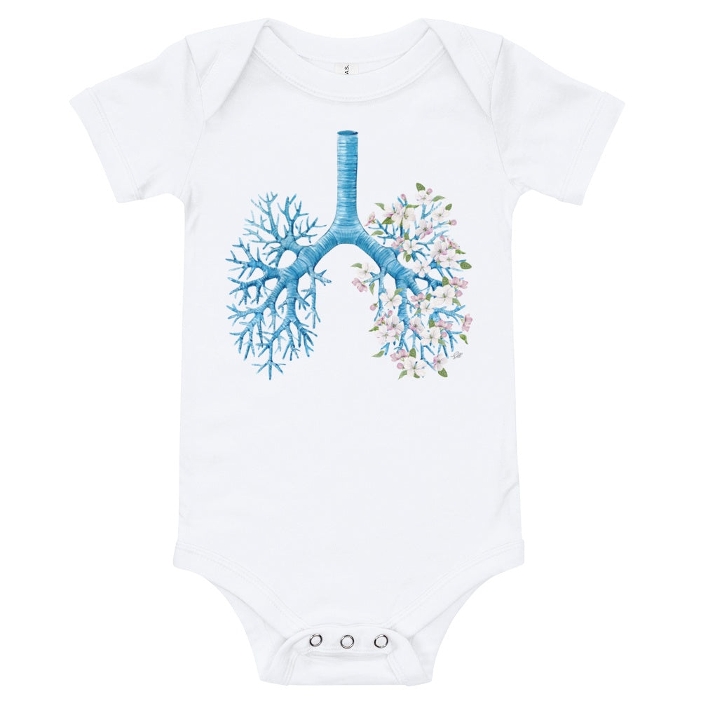 Just Breathe Short Sleeve Baby Onesie