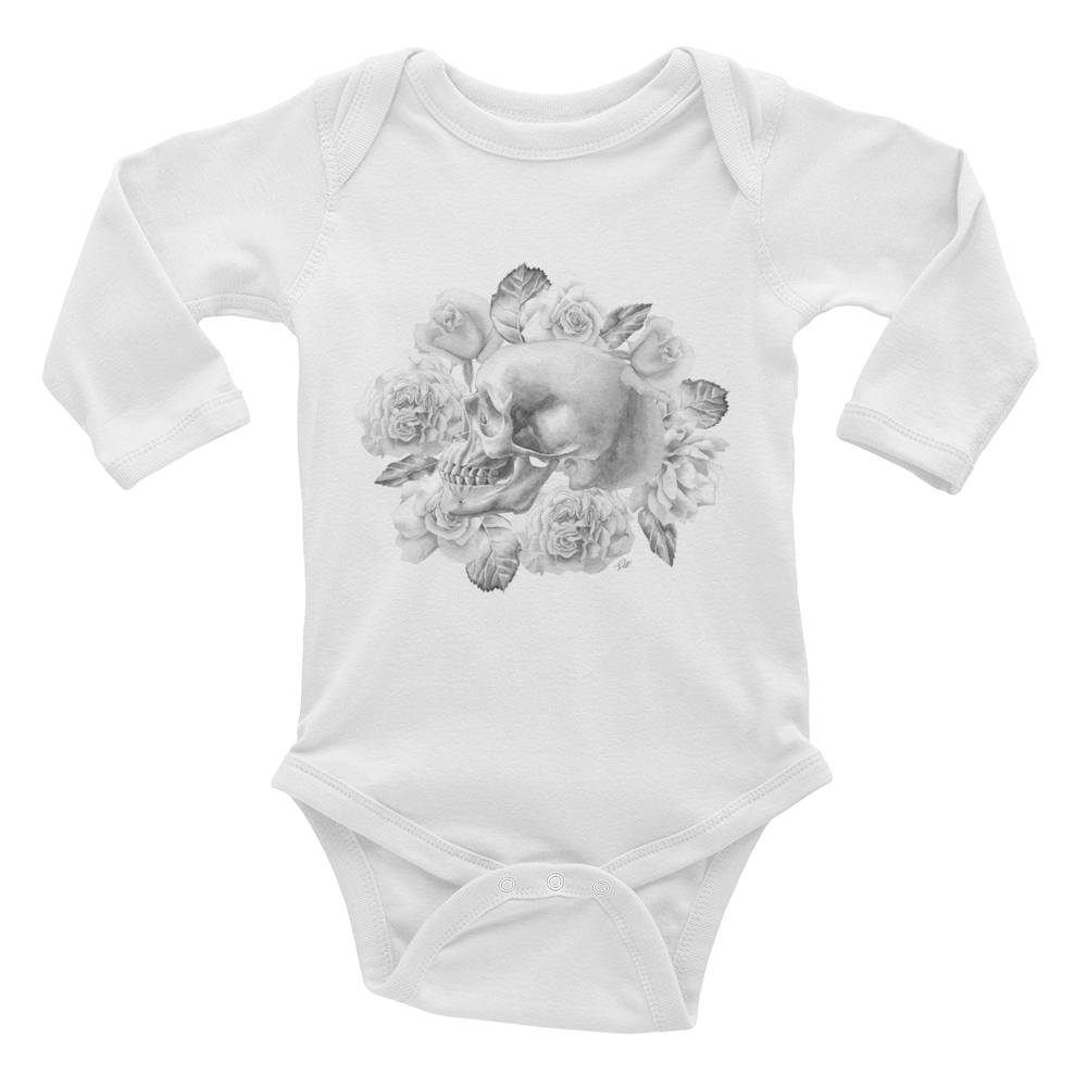 Life And Death Long Sleeve Baby Onesie