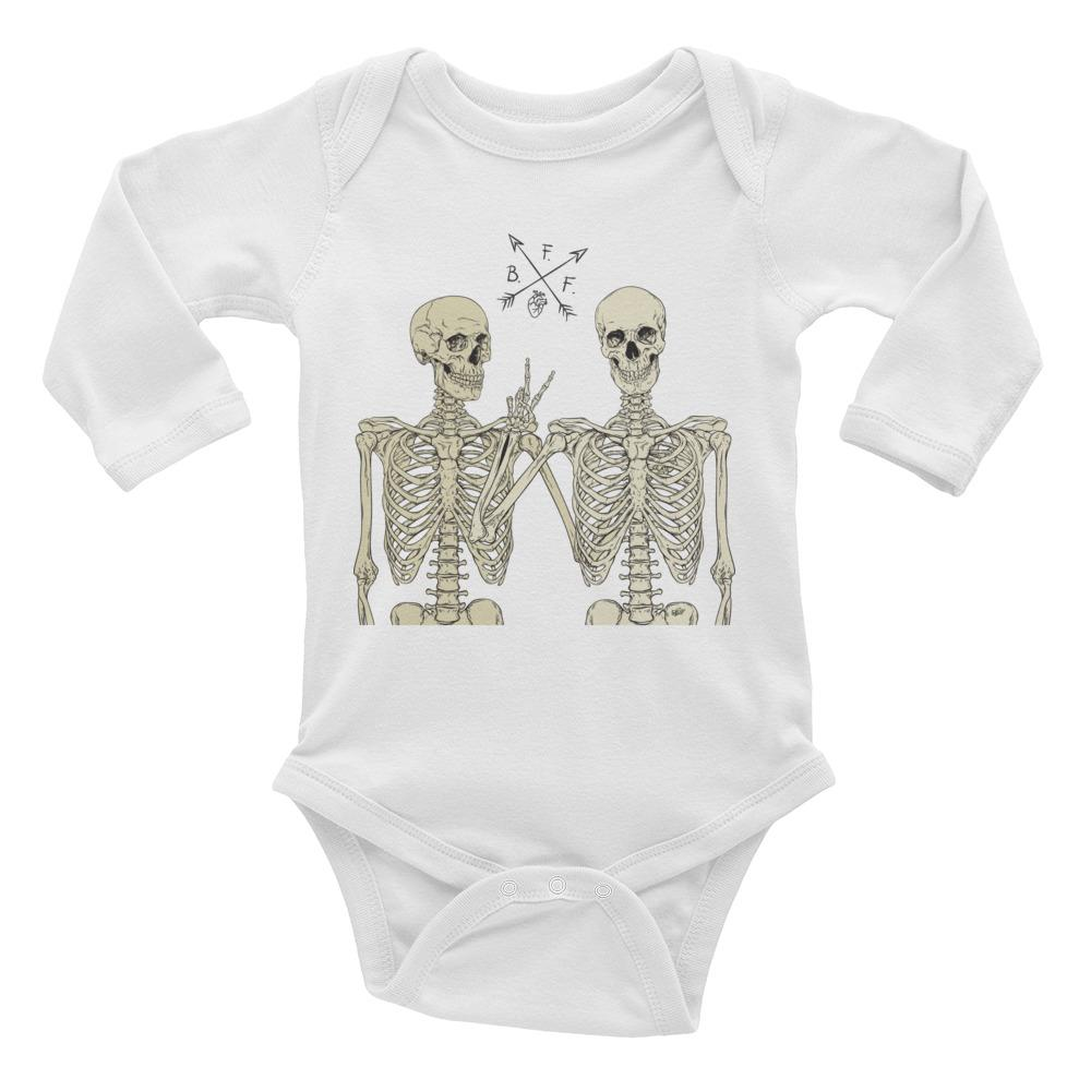 Loyal To The End Long Sleeve Baby Onesie