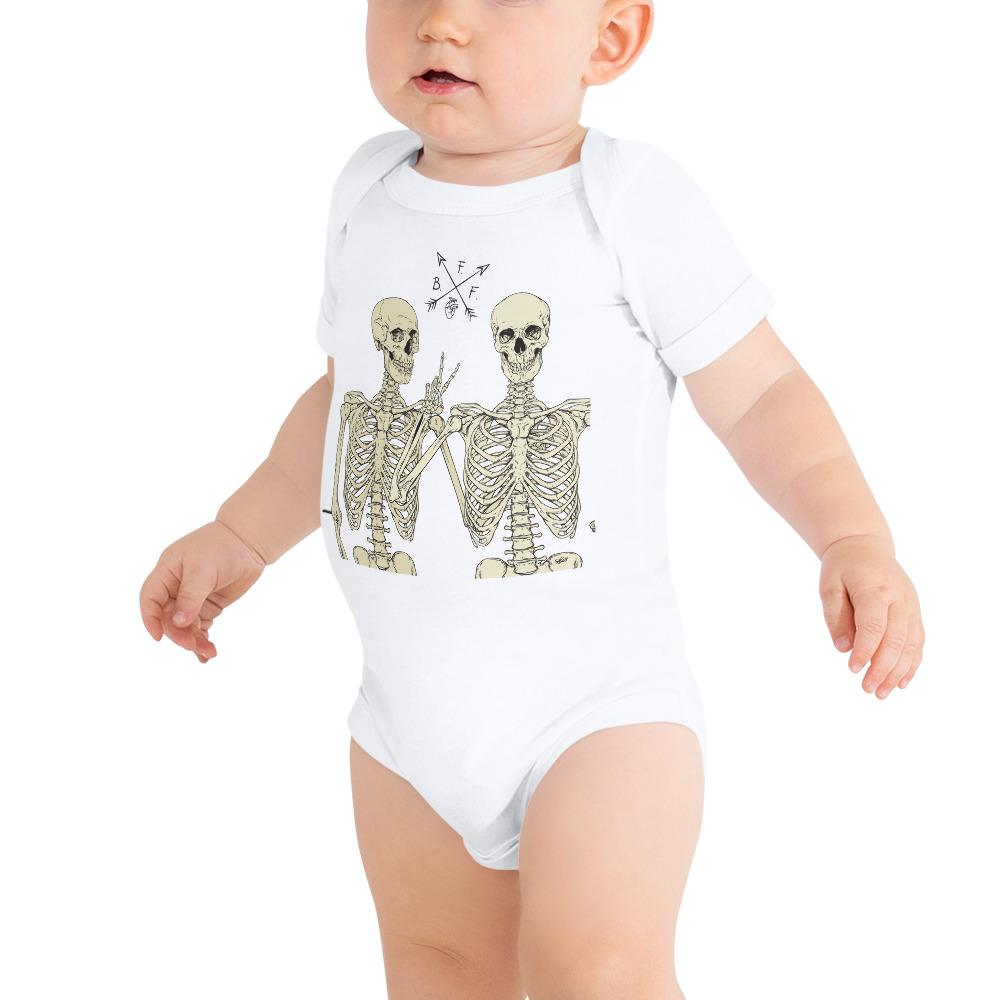 Loyal To The End Short Sleeve Baby Onesie