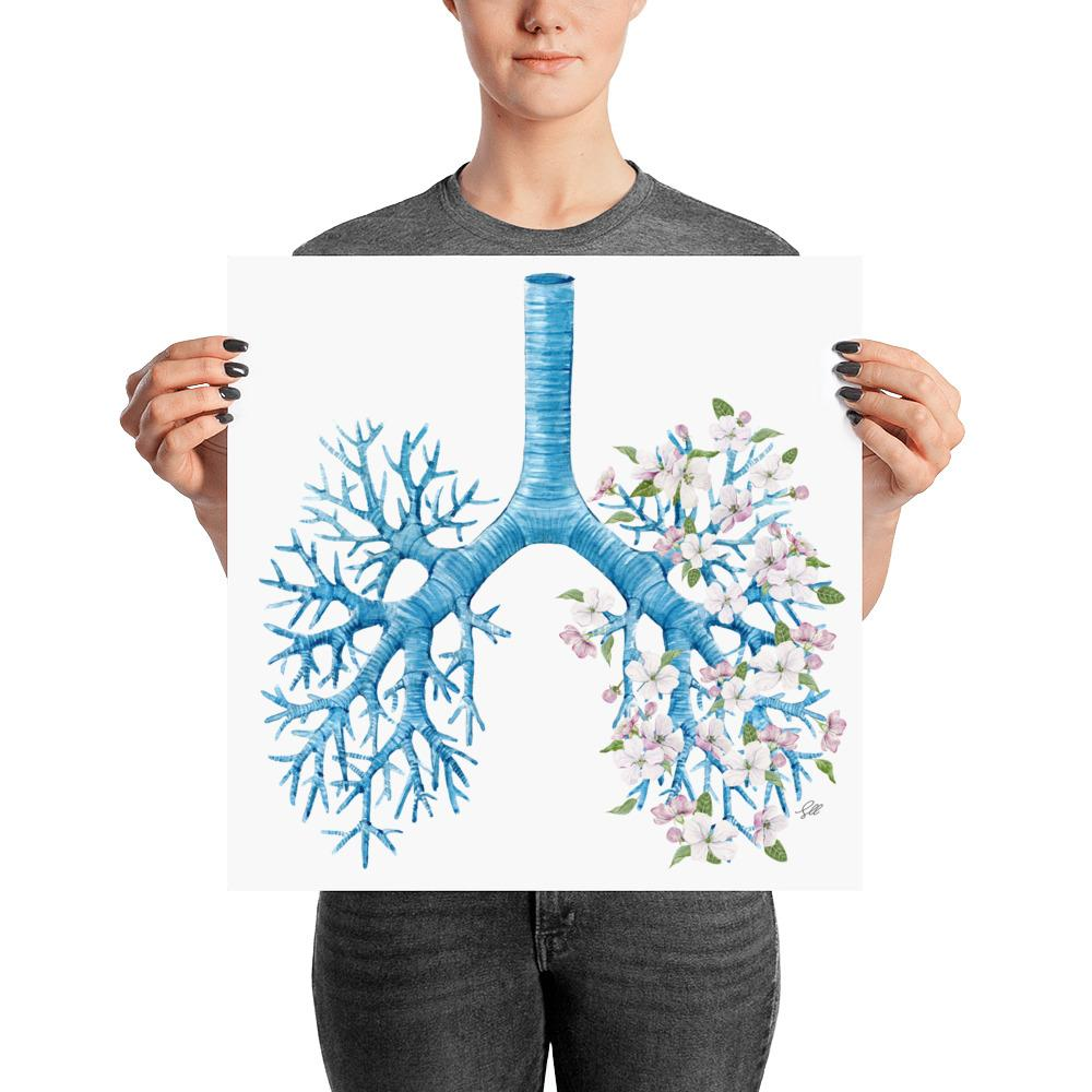 Lung Flowers Art Print
