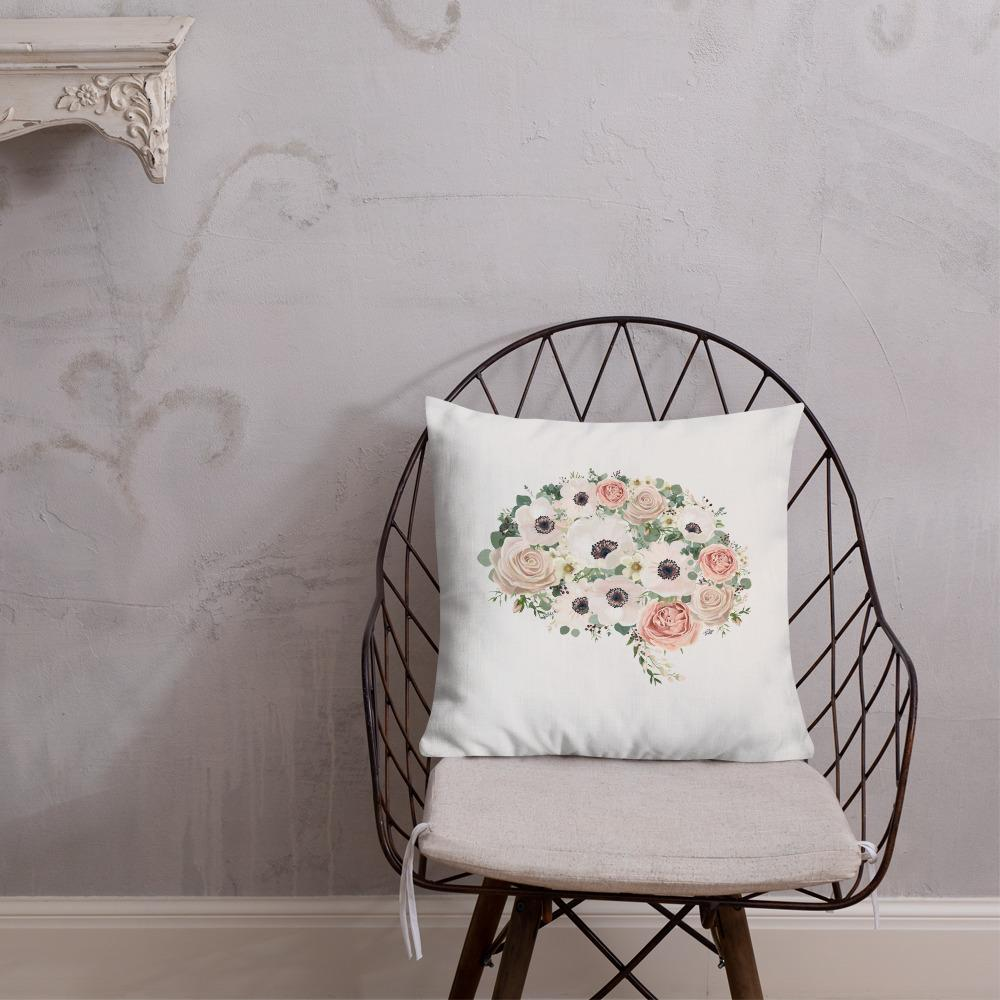 Mind In Bloom Premium Pillow