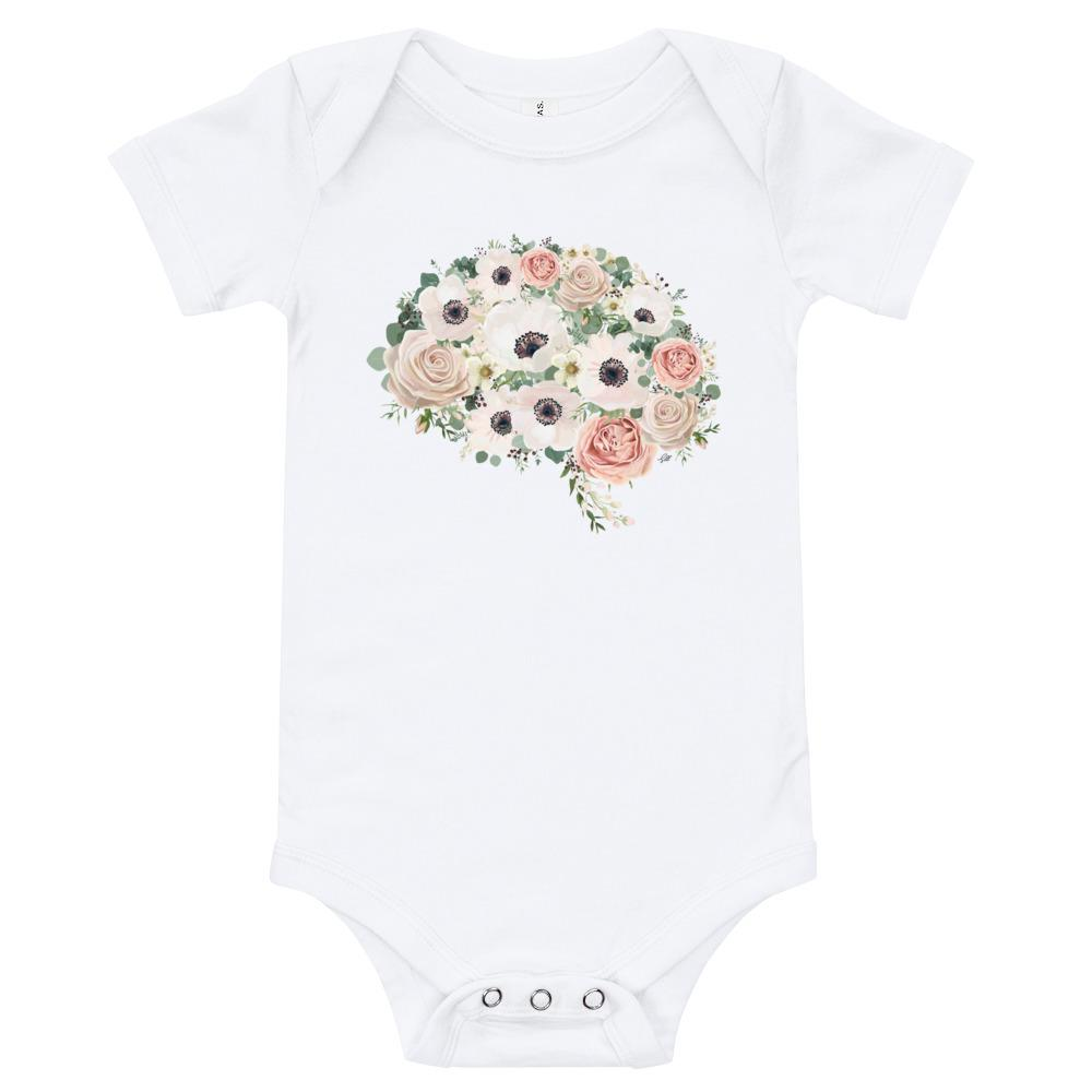 Mind In Bloom Short Sleeve Baby Onesie