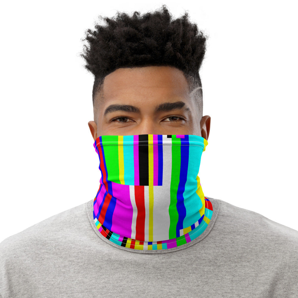 Rainbow Glitch Neck Gaiter