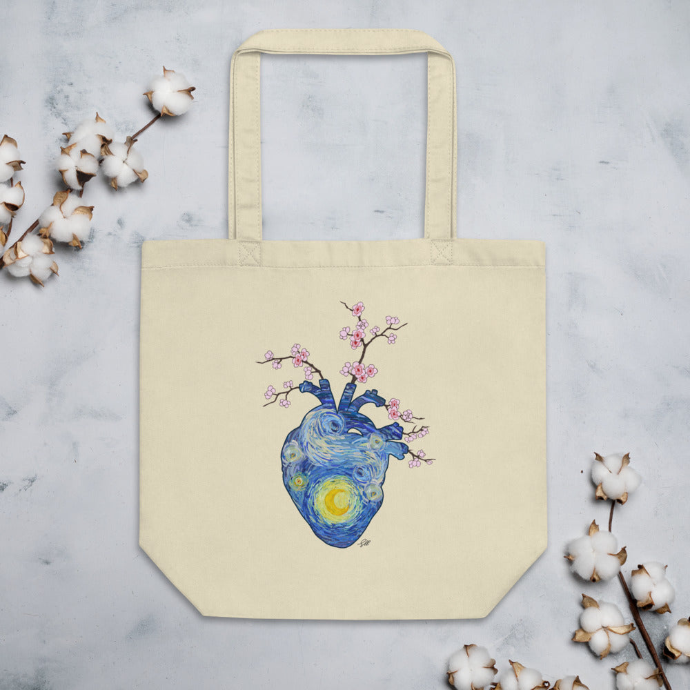 Starry, Starry Heart Eco Tote Bag