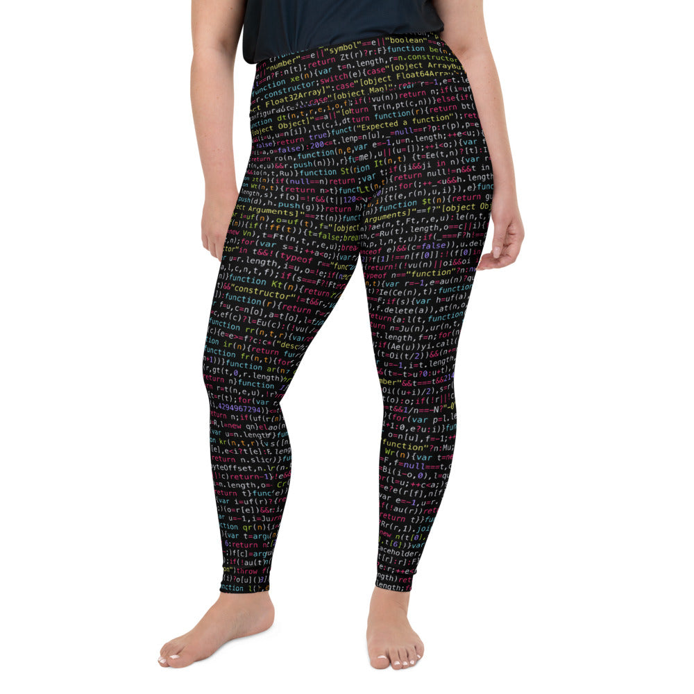 JavaScript All-Over Print Plus Size Leggings