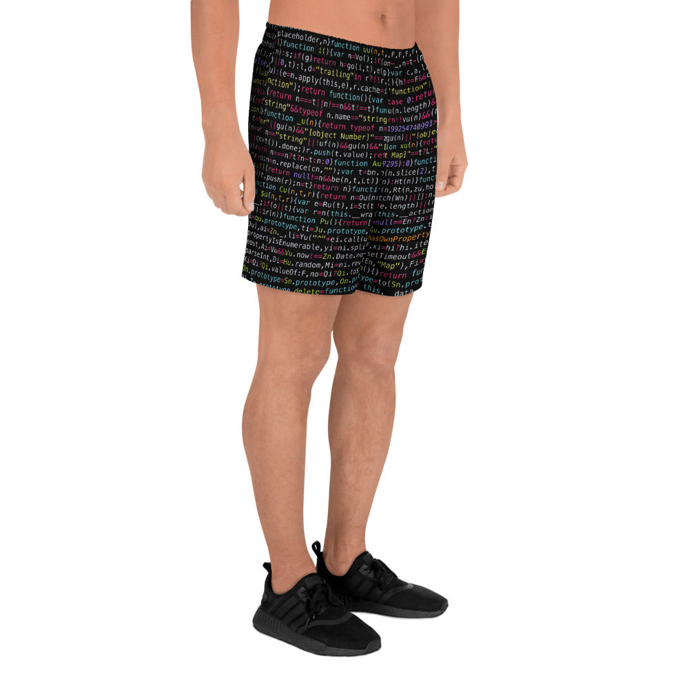 JavaScript Men's Athletic Long Shorts