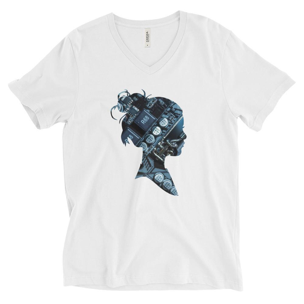Motherboard Girl Unisex Short Sleeve V-Neck