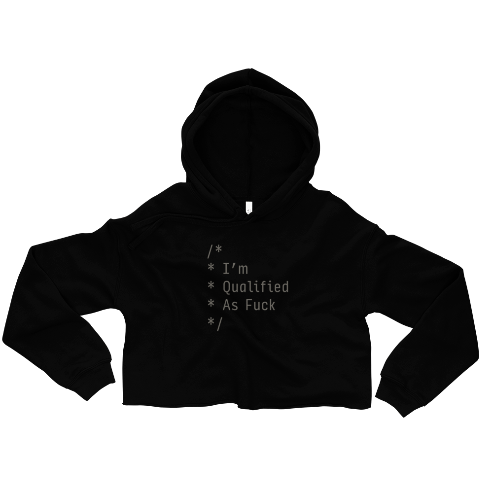 Qualified As F*ck Women's Crop Hoodie