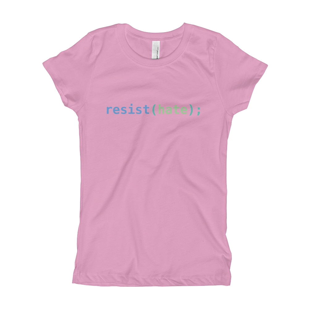 Resist Hate Girl's T-Shirt