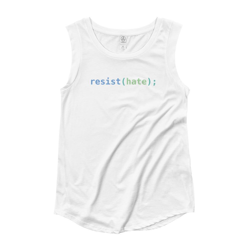 Resist Hate Women's Cap Sleeve T-Shirt