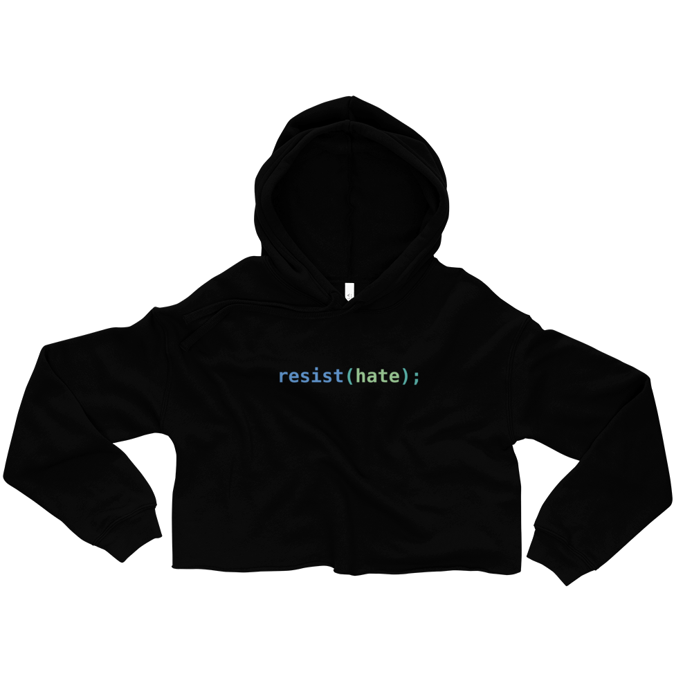 Resist Hate Women's Crop Hoodie