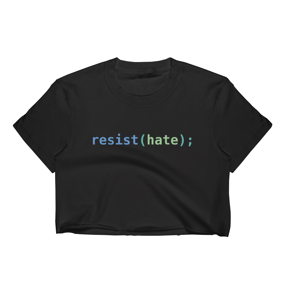 Resist Hate Women's Crop Top
