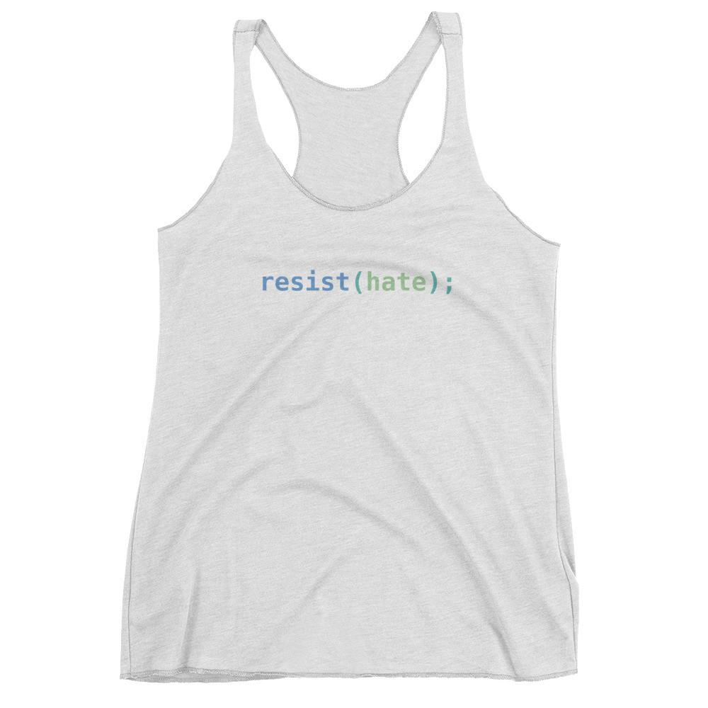 Resist Hate Women's Racerback Tank