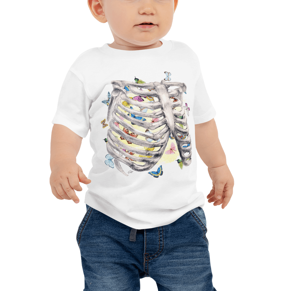 Set My Heart Aflutter Baby Short Sleeve Tee