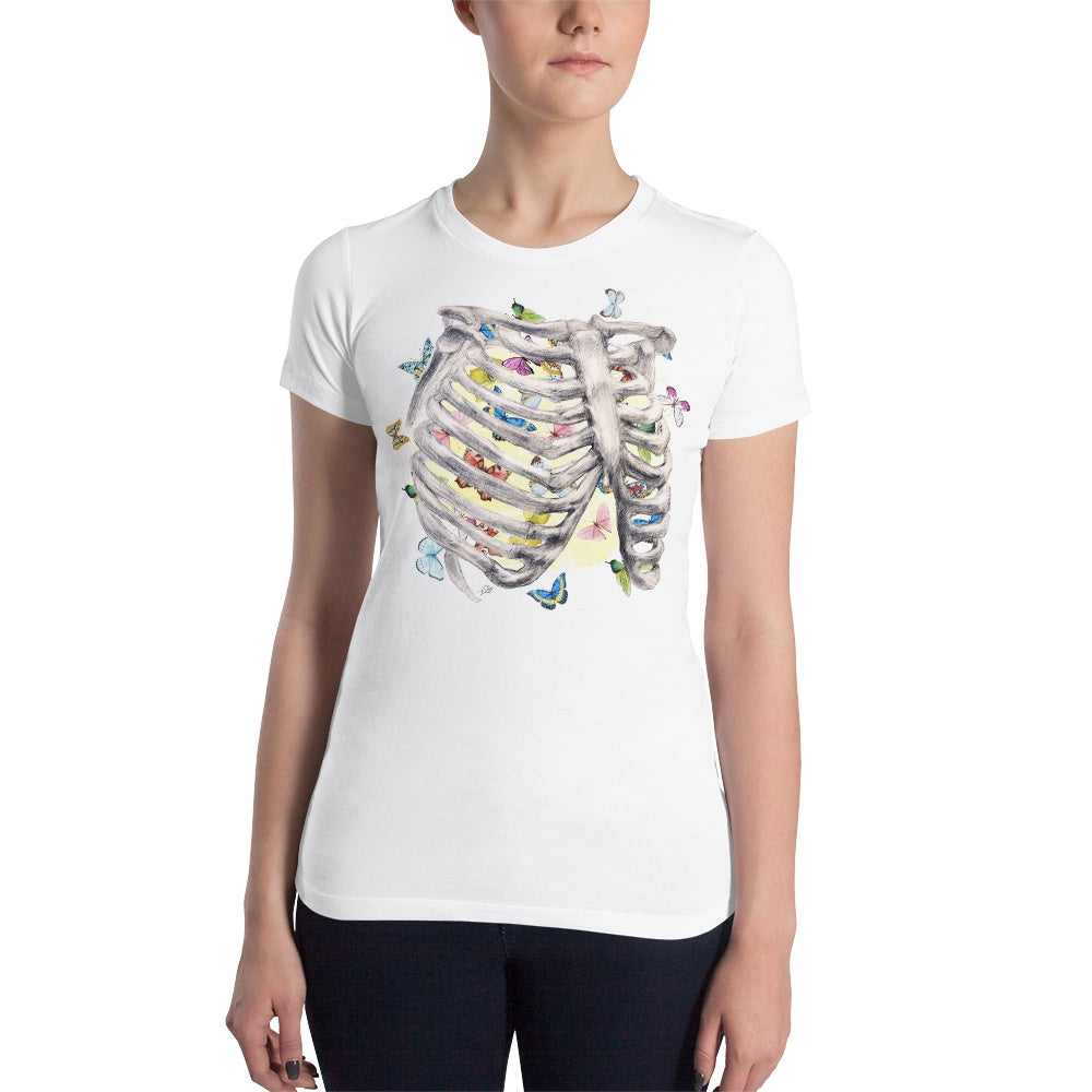Set My Heart Aflutter Women's Slim Fit T-Shirt