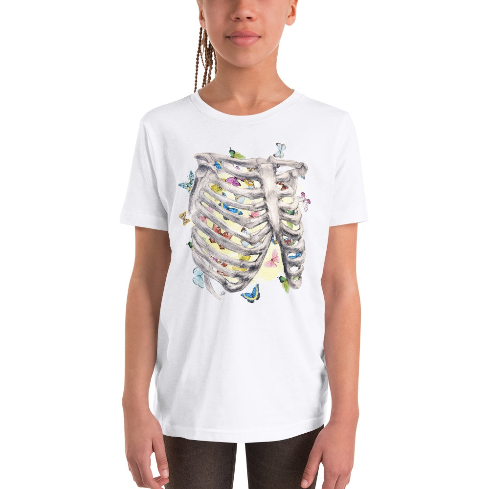 Set My Heart Aflutter Youth Short Sleeve T-Shirt