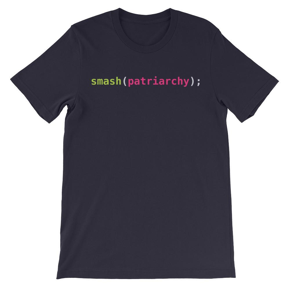Smash(patriarchy); Unisex Short Sleeve T-Shirt