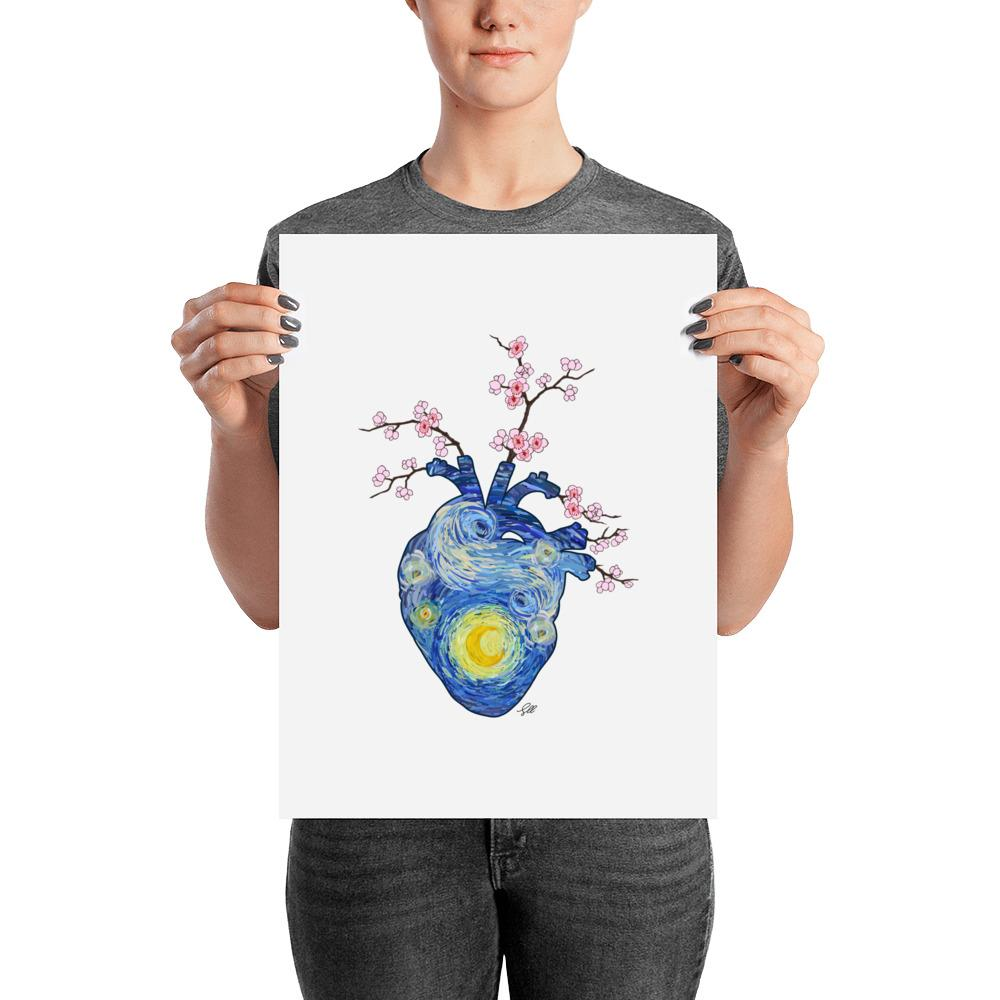 Starry, Starry Heart Art Print
