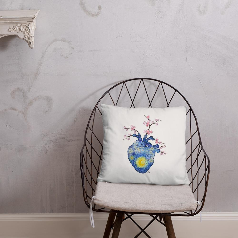 Starry, Starry Heart Basic Pillow