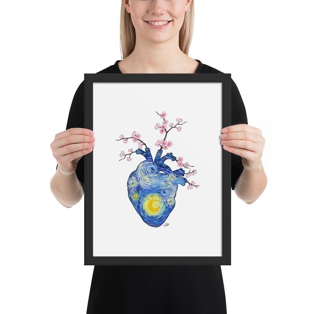 Starry, Starry Heart Framed Matte Art Print