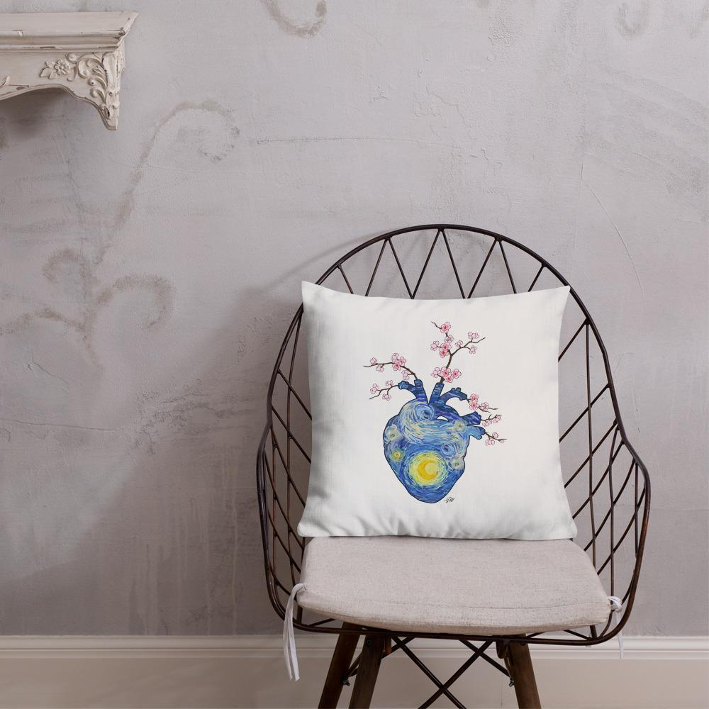 Starry, Starry Heart Premium Pillow